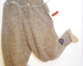 Wool Silk Sweater Pants,  size 5 child , earthtone, tapered leg, longies, snowpants