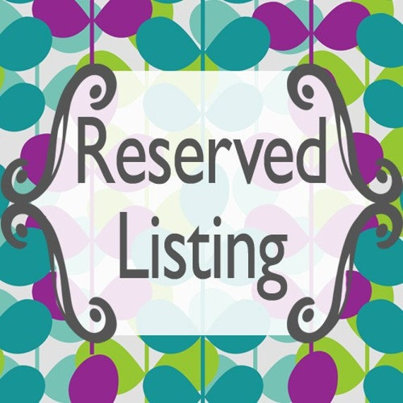Reserved for Sobrightdesigns