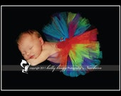 Shimmering Rainbow Brite Tutu-Sizes newborn to 4t-Custom orders welcome