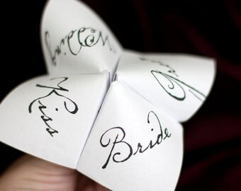 Print Your Own - Cootie Catcher - Wedding Favor
