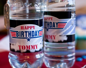 Top Son Birthday - Water Bottle Labels - Print Your Own
