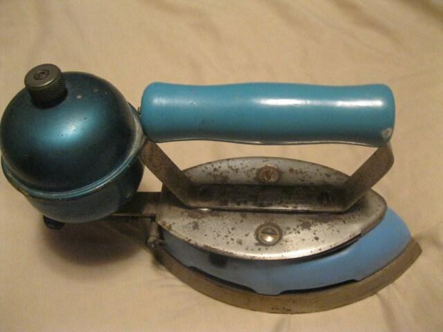 Old Steam Iron ~ Coleman brand gas powered steam iron s vintage antique