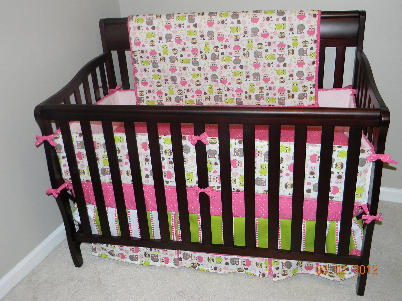 Owl crib bedding pink owls crib bedding setsave