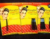 Reserved for Andre': Vintage Gayla Bobby Pins on Original Packaging Card