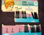 Reserved for Andre': Vintage Gayla Bobby Pins on Original Packaging Cards