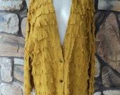Yellow fringe jacket (SOLD)
