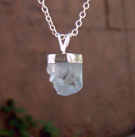celestine celestite pendant by jimcolony
