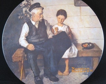 "Norman Rockwell ""The Lighthouse Keeper's Daughter"" Collection Plate"