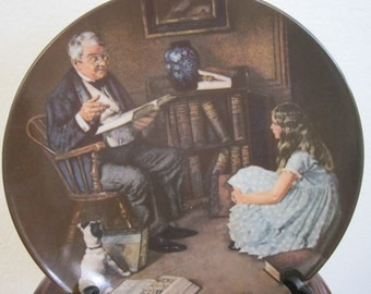 "Norman Rockwell ""The Storyteller"" Collection Plate"