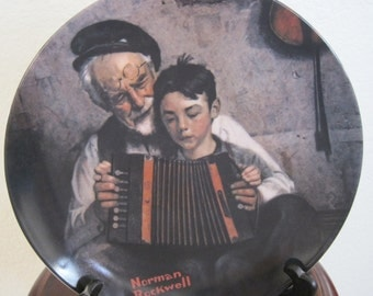 "Norman Rockwell The Music Maker"" Collection Plate"