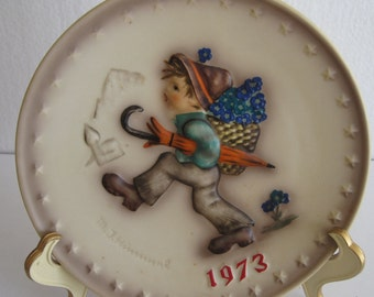 "M.J. Hummel 3th  Annual Plate 1973 ""Globe Trotter"" - West Germany 7 1/2"""