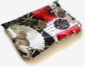 Handmade Fan and Crane Everyday Zipper Pouch