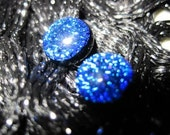 Blue Sapphire Dichroic Earrings