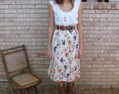 Vintage Cotton Skirt - Medium