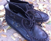 SALE - Vintage Leather Hiking Boots - sz 7