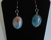 SALE - Crazy Lace Blue Agate Earrings