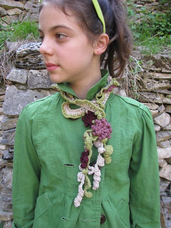 Spring Crochet Lariat