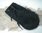 Black Suede Leather bag, lined