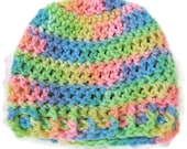Crocheted Cap for Babies - Rainbows and Tie-dye