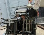 Vintage Heidelberg Windmill - Black Ball 1958 or 59 - Letterpress Printing Press