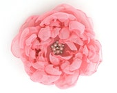 Pink Peony Hair Clip or Corsage