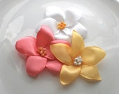 Flower Hair Pin: Yellow Plumeria