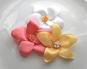 Flower Hair Pin: Yellow Plumeria