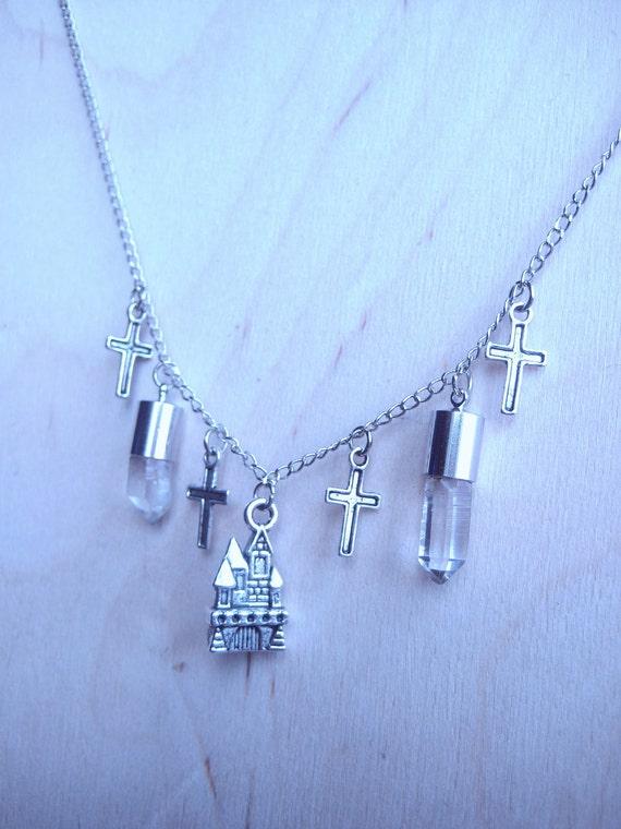 Crystal Castle Collar Necklace