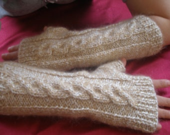 Knitting Pattern  Fingerless Gloves Arm Warmers