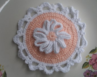 Cotton Crocheted Round Potholder...