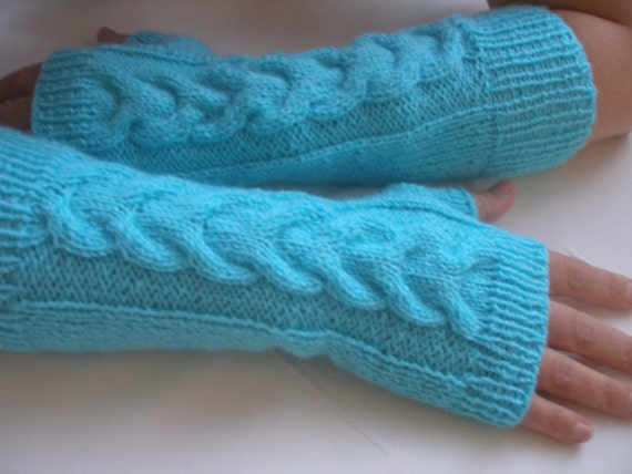 Handmade Crochet Long  Fingerless Mittens... Handmade Crochet...Crochet Pattern...Crochet Fingerles Gloves...Crochet Arm Warmers