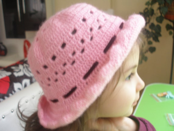 For 2-3 Years-Old Crochet Baby Hat...Pink...Crochet by ...