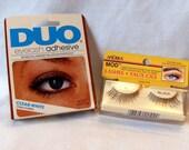 Eyelashes and Eyelash Adhesive - Vintage Andrea Mod Fake Eyelashes 45 Black and Duo Eyelash Adhesive