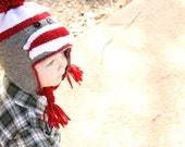 Sock Monkey Hat.  Any Size.  Made to Order