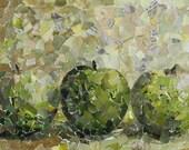 Three Apples - still-life mosaic