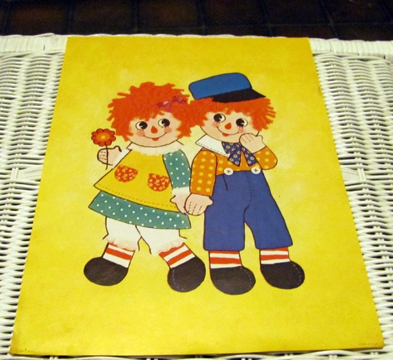Vintage Raggedy Ann and Andy prints - set of 5