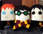 3 Harry Potter, Ron Weasley, or Hermione Granger plush monsters