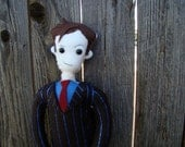Dr. who plush, David Tennant doll, 10th Dr. toy brown suit