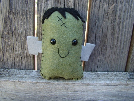 little Frankenstein plush, stuffed monster
