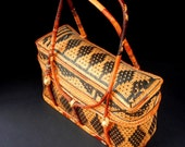 Medium sized AFRICAN Influenced Two handled Woven TOTE or PURSE