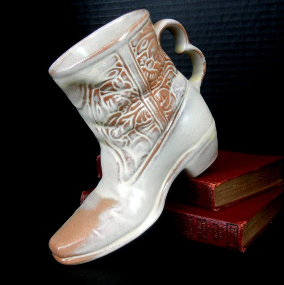 50% DISCOUNT COUPON on Selected Items   //  FRANKOMA Pottery Western Cowboy Boot Coffee Mug