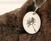Make A Little Wish ... Dandelion .... 925-Silver necklace .....