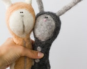 white felted hare free shipping
