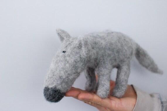 Needlefelted wolf