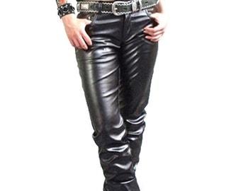 Sturgis biker pleather pants
