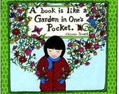 A Book is a Garden Proverb Print