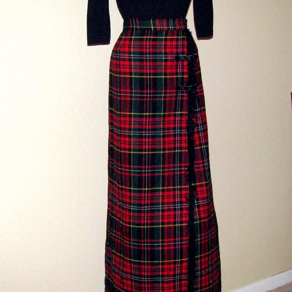 Long Plaid Skirt 101