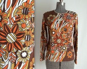 Psychedelic Floral Blouse