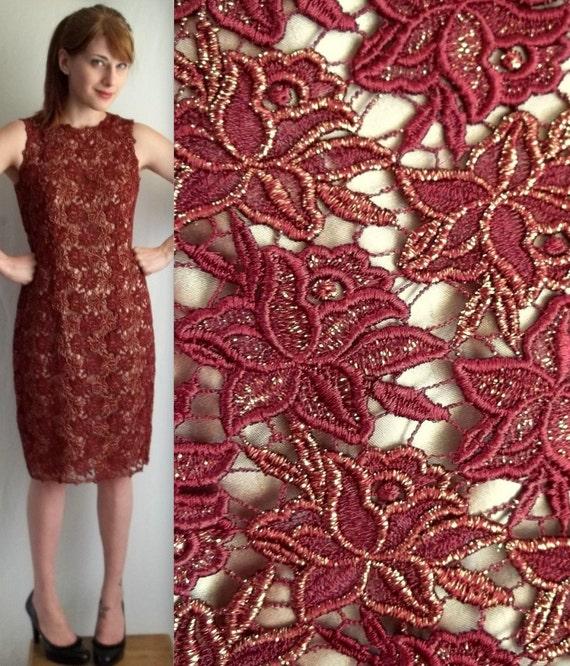 RESERVED for Anastasia Dark Red Sleeveless Floral Dress