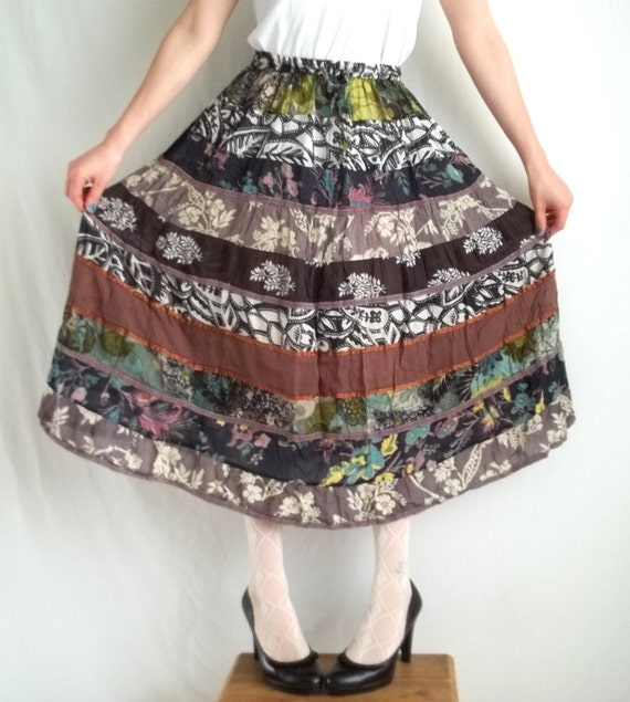 Multi Color Tiered Skirt